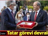 Cumhurbaşkanı Ersin Tatar, Mustafa Akıncı'dan görevi devraldı