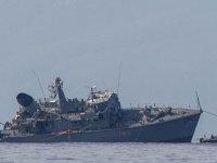 Yunanistan'da konteyner ile savaş gemileri çarpıştı