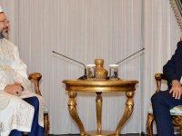 Cumhurbaşkanı Tatar, TC Diyanet İşleri Başkanı Prof. Dr. Ali Erbaş'ı kabul etti