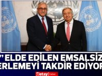 Guterres'ten Akıncı'ya teşekkür
