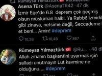 İzmir depremi hakkında iğrenç paylaşımlar:''Allah zinanın başkentini salladı''