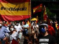 İspanya'da Kovid-19 Önlemleri Karşıtı Gösteriler Olaylı Geçti