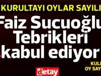 UBP Kurultayı... Dr. Faiz Sucuoğlu tebrikleri kabul ediyor...