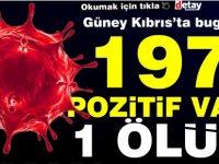 Güney Kıbrıs'ta 197 vaka 1 ölüm