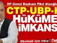 Ataoğlu UBP, CTP'nin Başbakanlığına onay vermez!