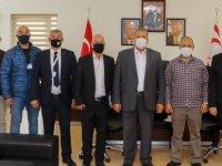 Uyuşturucu ile Mücadele Komisyonu Belediye Başkanı İsmail Arter'i ziyaret etti