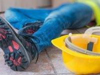 Girne'de iş kazası:3 metreden düştü