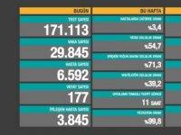 Türkiye'de bir günde 29 bin 845 vaka, 177 can kaybı