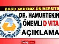 DAÜ Diş Hekimliği fakültesi öğretim üyesi Dr. Yeşim Hamurtekin D vitamini hakkında açıklamalarda bulundu