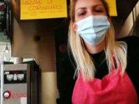 """İtalya'da bir cafe:""""Corona virüsüyle ilgili konuşmak yasaktır."""""""