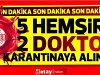 Girne'de 5 Hemşire, 2 doktor karantinaya alındı