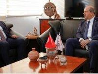 Cumhurbaşkanı Tatar, Çatalköy Belediye Başkanı Mehmet Hulusioğlu'nu Ziyaret Etti