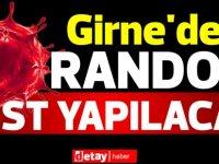 Girne'de ücretsiz random test yapılacak