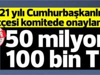 KKTC Cumhurbaşkanlığı bütçesi:50 milyon 100 bin TL