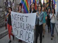 İzmir'de LGBTİ eylemi