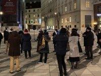 """Avusturya'da Müslümanların Haklarını Kısıtlayacağı Düşünülen """"Terörle Mücadele Yasa Tasarısı""""Na Protesto"""