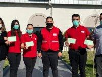 Kuzey Kıbrıs Türk Kızılayı Kan Hizmetleri Birim ekibi KOVİD-19 aşısı yaptırdı