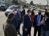 Başbakan Ersan Saner,Girne-Alsancak Yolu 1. Etap Projesi'nde incelemede bulundu