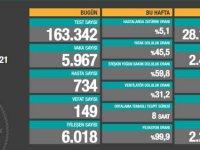 Türkiye'de son 24 saatte 5 bin 967 kişide vaka tespit edildi, 149 kişi koronavirüs sebebiyle hayatını kaybetti