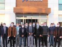 Alayköy'ü ziyaret ettiler.. Bu kez maske taktılar...