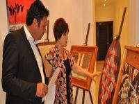 Çatalköy'de  'Gece Gündüz Ben' adlı sergi açıldı
