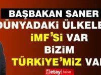 Saner:Dünyadaki ülkelerin IMF'si var, bizim IMF'miz yok, Türkiye'miz var