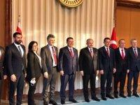 Başbakan Saner TBMM Başkanı Şentop'a Nezaket Ziyaretinde Bulundu