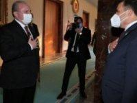 Saner, TBMM Başkanı Şentop'a nezaket ziyaretinde bulundu