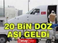 Türkiye'den 20 Bin Doz Aşı Ambulans Uçakla Ercan'a Geldi