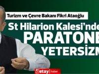 Ataoğlu,St Hilarion Kalesi'nde çıkan yangın hakkında bilgi verdi
