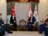 Cumhurbaşkanı Tatar, Türkiye Cumhuriyeti Ticaret Bakanı Ruhsar Pekcan'ı kabul etti