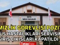 Sağlık Bakanlığı:Göğüs Hastalıkları Servisinin giriş çıkışları kapatıldı