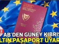 AB,Güney Kıbrıs'ı altın pasaport konusunda uyardı