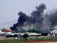 Esed güçleri mahsul depolarını bombaladı