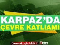Karpaz'da çevre tahribatı! Çimento kalıntılı su doğaya boşaltılıyor (Video)