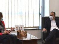 LTB Başkanı Harmancı, Fransız Büyükelçisi Salina Grenet-Catalano'yu kabul etti