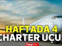 Kapalı otel turizmi kararları doğrultusunda Bakanlıktan haftada 4 charter uçuşa izin verildi