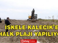 İskele Kalecik'e halk plajı yapılıyor