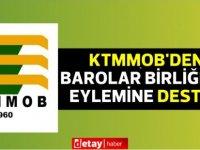 Kıbrıs Türk Mühendis ve Mimar Odaları Birliği'nden Barolar Birliği'nin eylemine destek