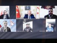 Cumhurbaşkanı Tatar, Avrupa'da yaşayan gazetecilerle çevrim içi görüştü