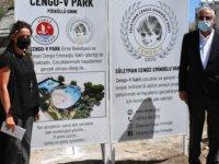 Girne'de yeni park ve aktivite alanının temeli atıldı