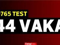 9765 test yapıldı, 39'u yerel 44pozitif vaka