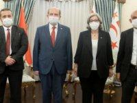 Cumhurbaşkanı Ersin Tatar, Yüksek Mahkeme Başkanı Narin Ferdi Şefik, Başsavcı Sarper Altıncık ve Yargıç Mehmet Türker'i kabul etti