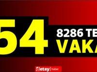 8286 test yapıldı, 34'ü yerel 54pozitif vaka