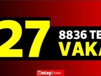 8836test yapıldı, 23' ü yerel 27 pozitif vaka