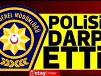 3 polisi darp etti,tutuklandı