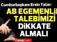 """Cumhurbaşkanı Ersin Tatar, """"Avrupa Günü"""" nedeniyle mesaj yayınladı"""