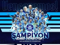 Adana Demir SPOR 26  yıl aradan sonra Süper Lige şampiyon olarak yükseldi