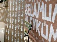 Cami duvarına 'sanat' karakolda bitti: Bana göre güzel oldu