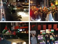 Sokağa çıkma yasağına rağmen Türkiye'nin birçok ilinde İsrail protestosu düzenlendi; araçlarla konvoy yapıldı